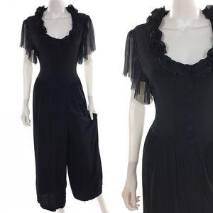 Vintage 80s Casual Boho Jumpsuit ✨
